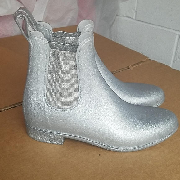 J Crew Mercabtile Silver Glitter Ankle